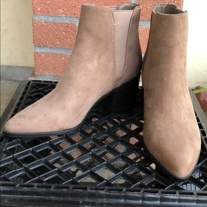 Suede Tan Ankle Boots